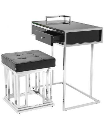 Eichholtz Equinox Desk & Stool Set