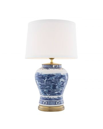 Eichholtz Chinese Blue Lamp