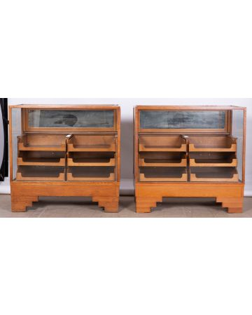 Pair of Glass Haberdashery Units