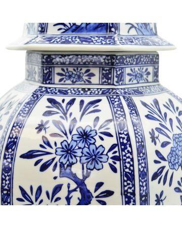 Grand Tour Temple Jar - Floral