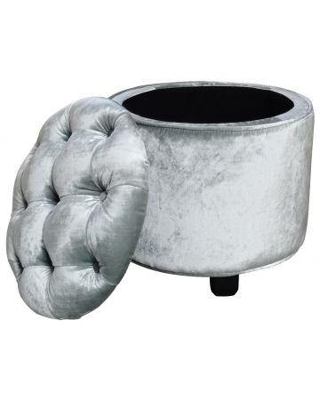 Le Manoir Drum Stool - Silver