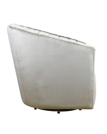 Milo Swivel Chair - Mink Velvet