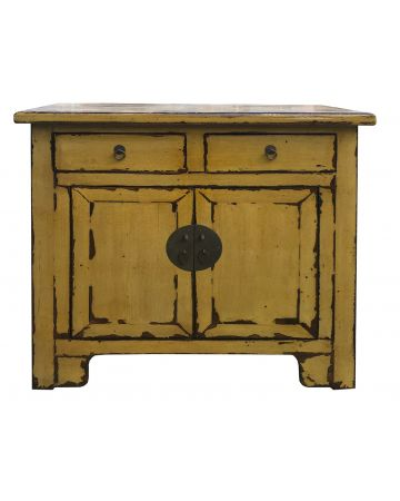 Chinese Artisan Small Cabinet - Olive