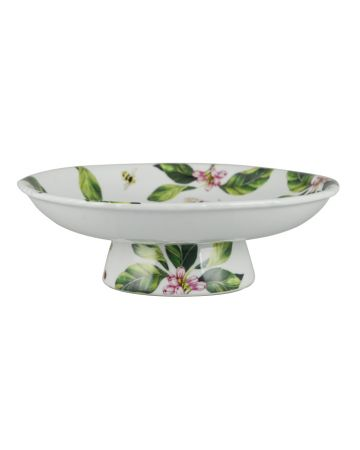 English Garden Footed Platter