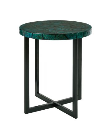 Bahira Round Side Table - Teal