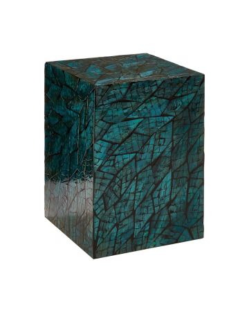 Bahira Square Side Table - Teal