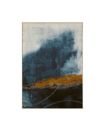 Abstrato Blue & Gold Artwork