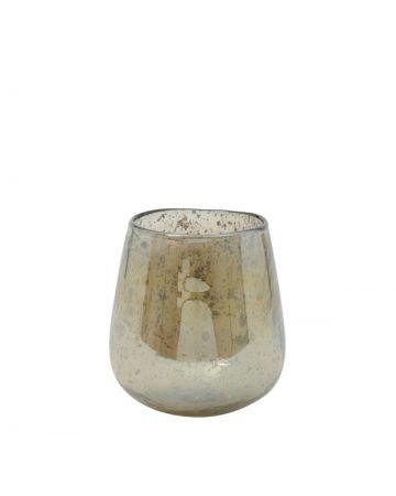 Amber Glass Vase - 12.5cm