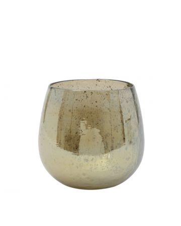 Amber Glass Vase - 17.5cm