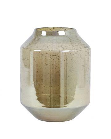 Amber Glass Vase - 30.5cm