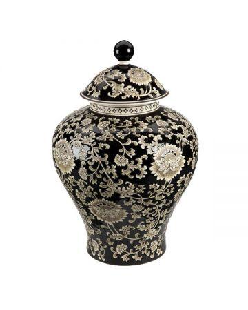 Mandalay Large Jar - Black