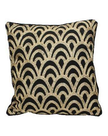 Deco Scalloped Cushion - Square
