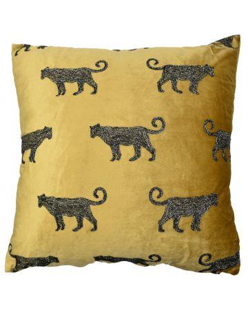 Safari Leopard Large Cushion
