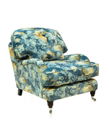 Buckingham Chair - English Oak Cornflower