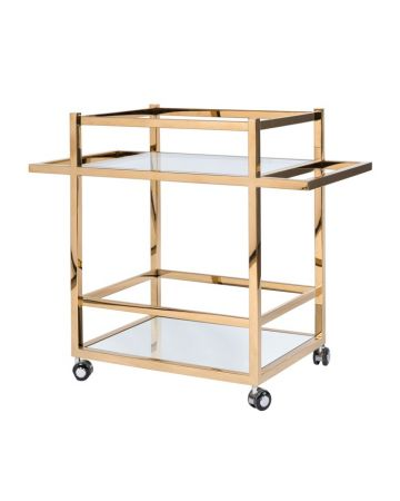 Aston Drinks Trolley - Gold