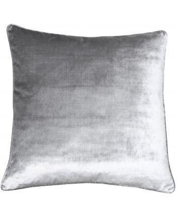 Beaufort Velvet Cushion - Silver