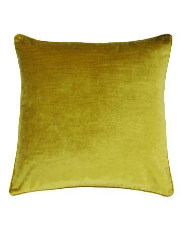 Beaufort Velvet Cushion - Ochre