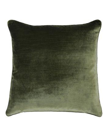 Beaufort Velvet Cushion - Olive