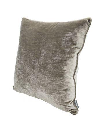 Luxury Velvet Cushion - Silver