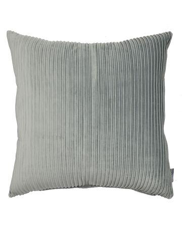 Thevenon Pleats Velvet Cushion - Grey