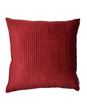 Thevenon Pleated Velvet Cushion - Burgundy