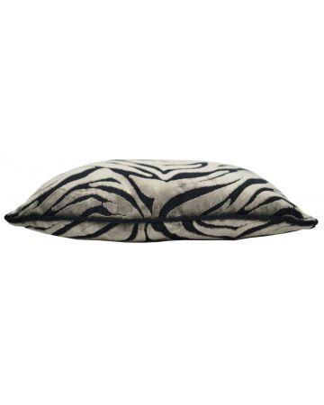 Zebra Earth Velvet Rectangular Cushion