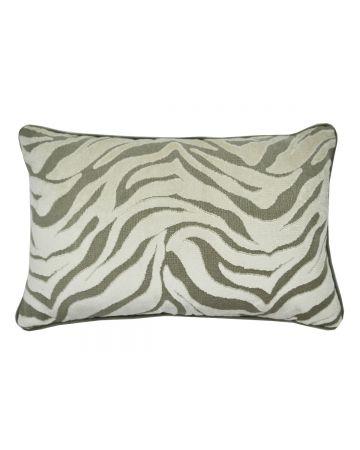 Zebra Acacia Velvet Rectangular Cushion