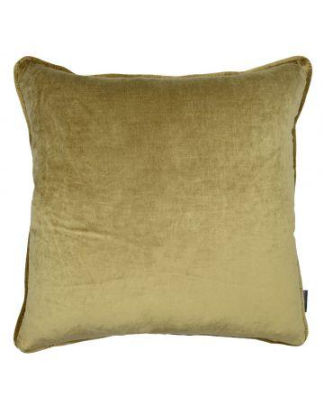 St Moritz Velvet Square Cushion - Camel