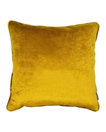 St Moritz Velvet Square Cushion - Honey