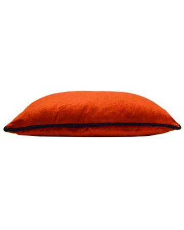 St. Moritz Velvet Rectangular Cushion -  Brick