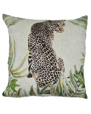 Jungle Cushion - Jaguar