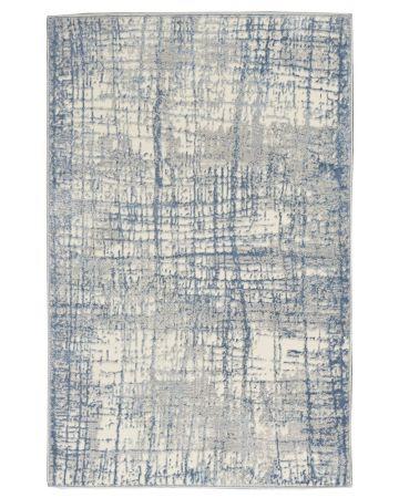 CK Rush by Calvin Klein Rug - Ivory Blue