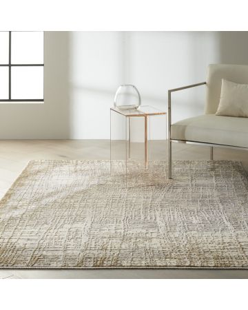 CK Rush by Calvin Klein Rug - Ivory Taupe