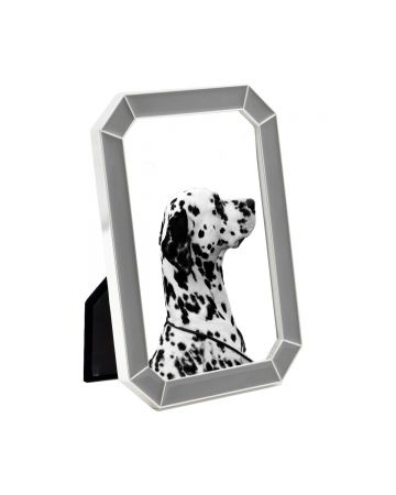 Grey Enamel Photo Frame - 4x6