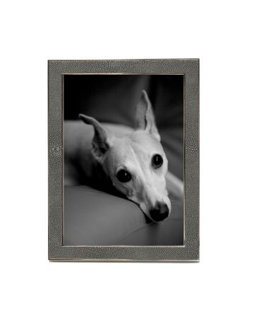 Grey Faux Shagreen & Nickel Photo Frame - 5x7
