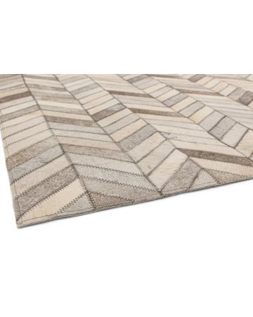 Cordoba Cow Hide Rug-Chevron