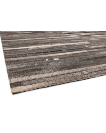 Cordoba Cow Hide Rug-Dark Grey Stripe