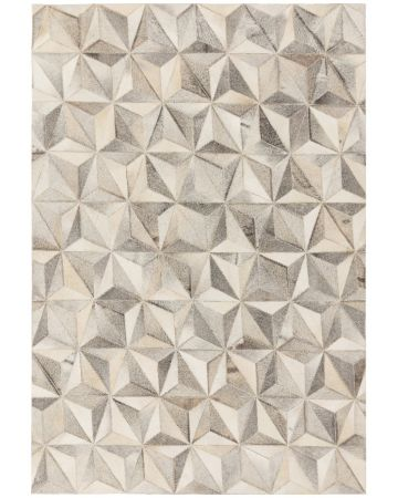 Cordoba Cow Hide Rug-Facet Grey