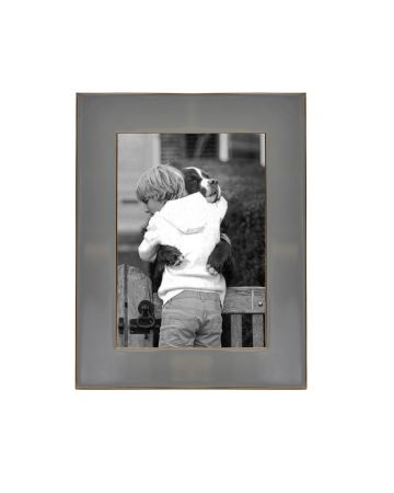 Grey Enamel Photo Frame - 5x7