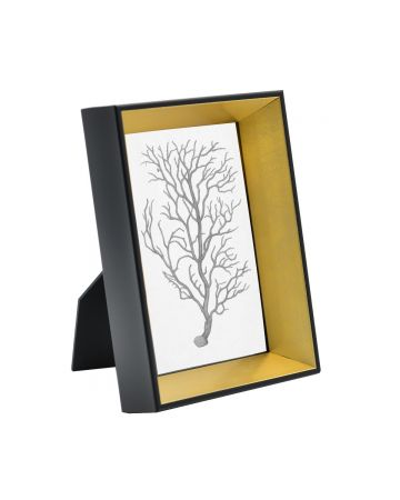 Gold & Black Photo Frame - 4x6