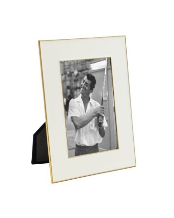 White Enamel Photo Frame - 4x6