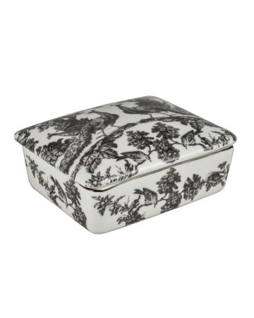 Peacock Toile Rectangular Box