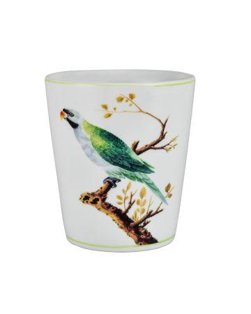 V&A Green Parrot Round Planter