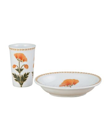 Mughal Flowers Beaker & Soap Dish