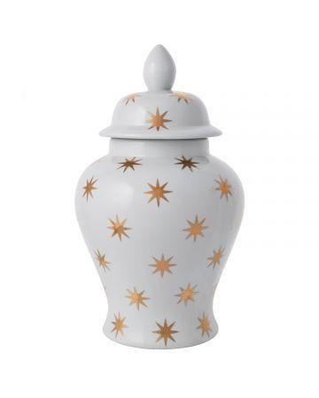 Gold Star Temple Jar