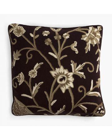 Crewelwork Cushion - Ruffle