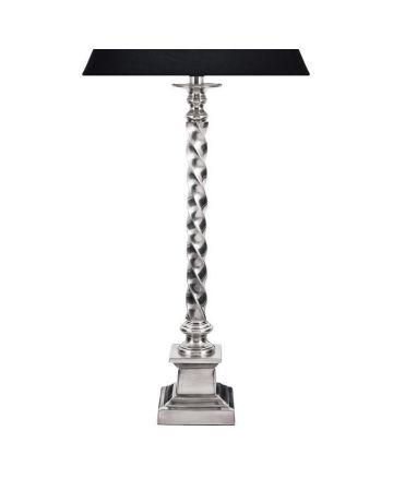 Montague Lamp Base - Antique Silver