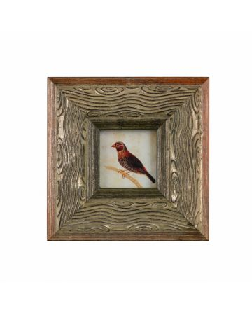 Faux Bois Frame with Print 3x3