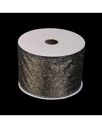Ribbon - Silver Glitter