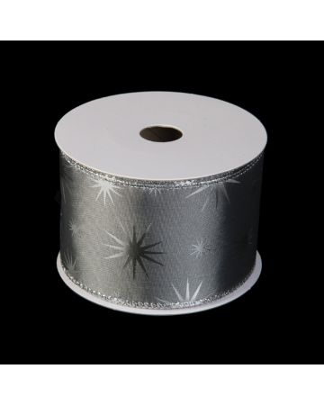 Ribbon - Silver with Stars
